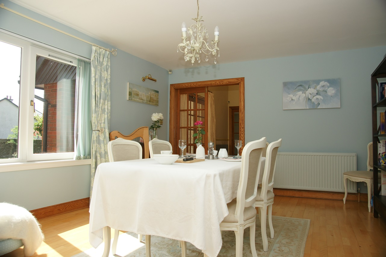 Recently refurbished dining room