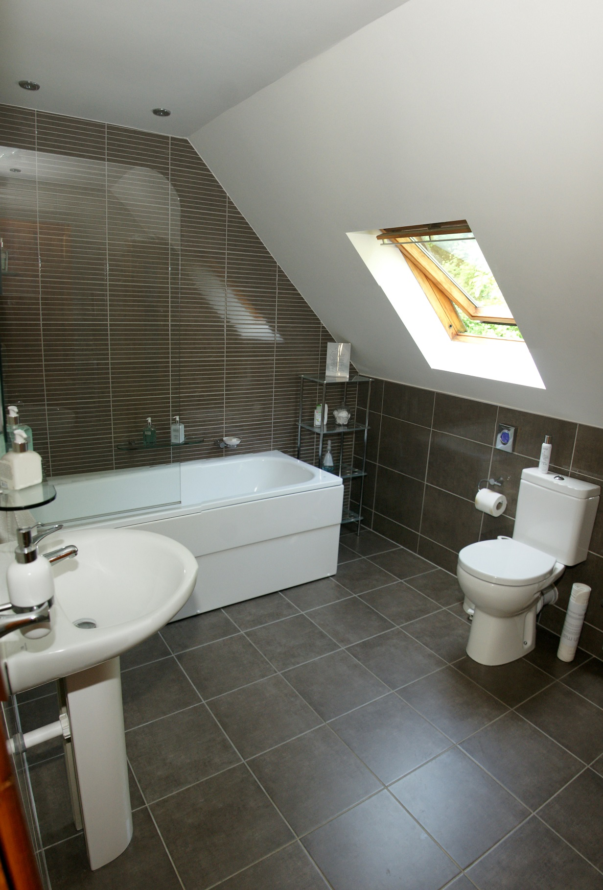 Spacious, modern private bathroom