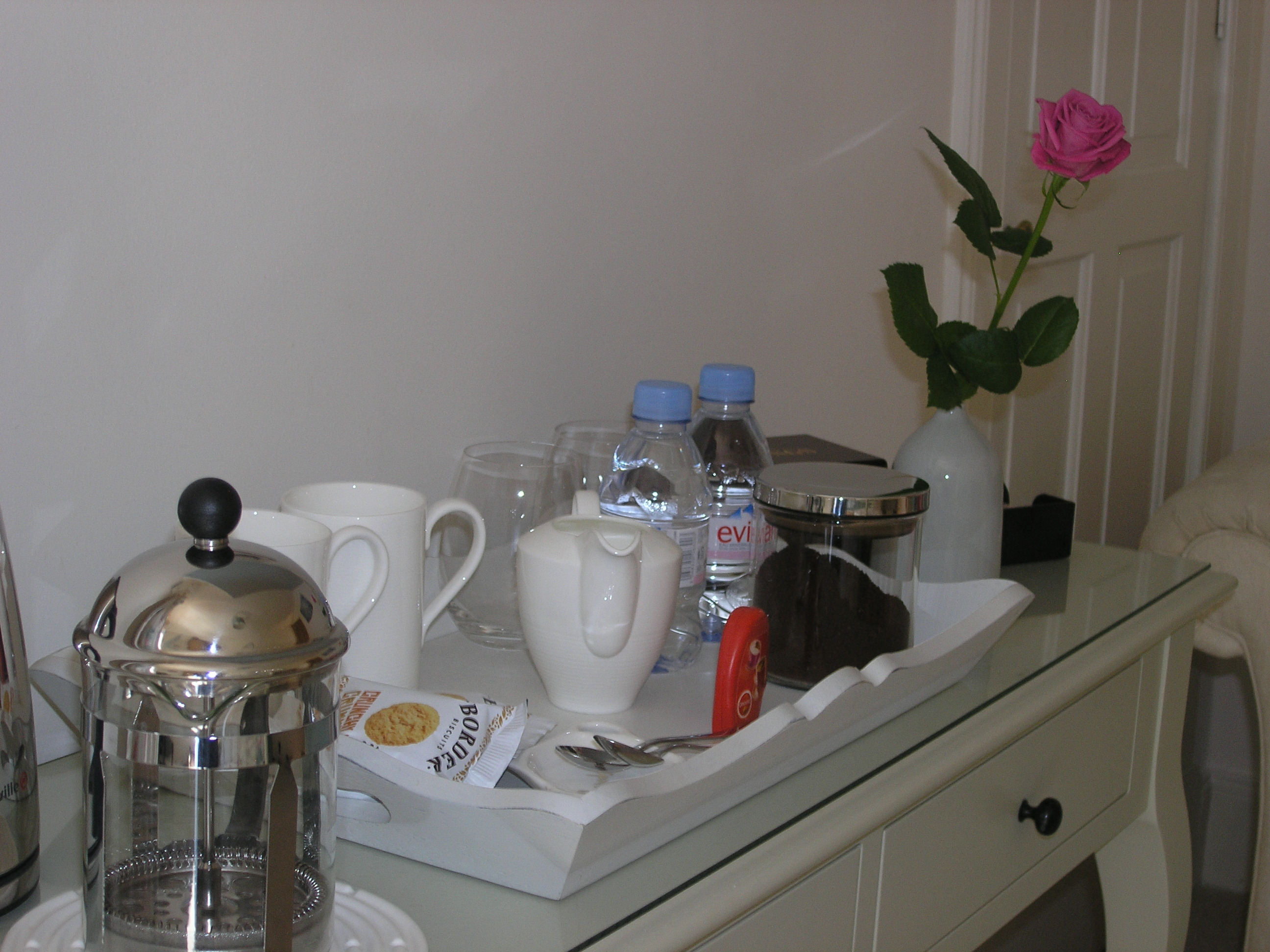 Enjoy a selection of teas and ground coffee